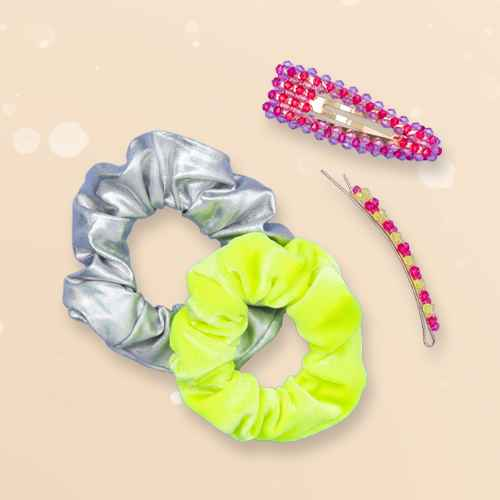 Girls' 4pk Glow in the Dark Hair Clip and Twister - More Than Magic™