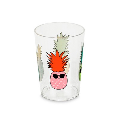 Plastic Short Tumbler 16oz - Pineapples
