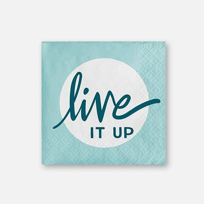 30ct 'Live It Up' Paper Napkins