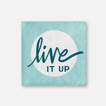 30ct 'Live It Up' Paper Napkins