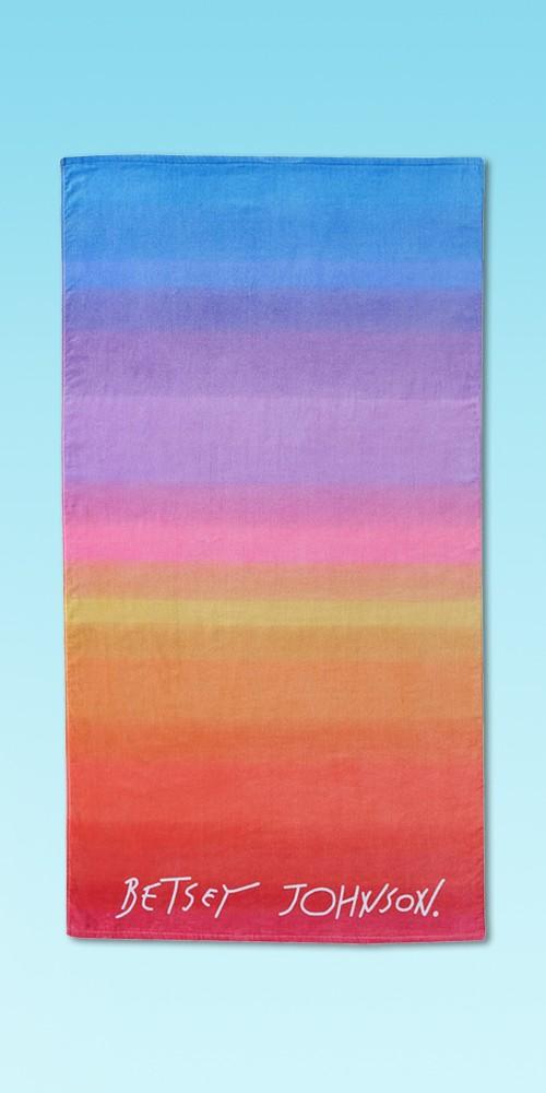 Fruity Fun Betseys Assorted Printed Beach Towel Ombre - Betseyville