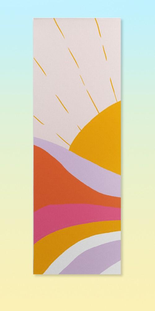 "Sunshinecanteen Laurel Canyon Sunrise (6mm) 24"" x 70"" Yoga Mat - Society6"