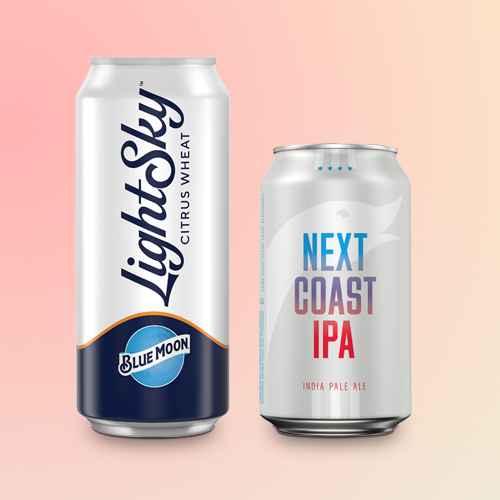 Blue Moon Light Sky Citrus Wheat Beer - 6pk/12 fl oz Slim Cans, Goose Island Next Coast IPA Beer - 6pk/12 fl oz Cans