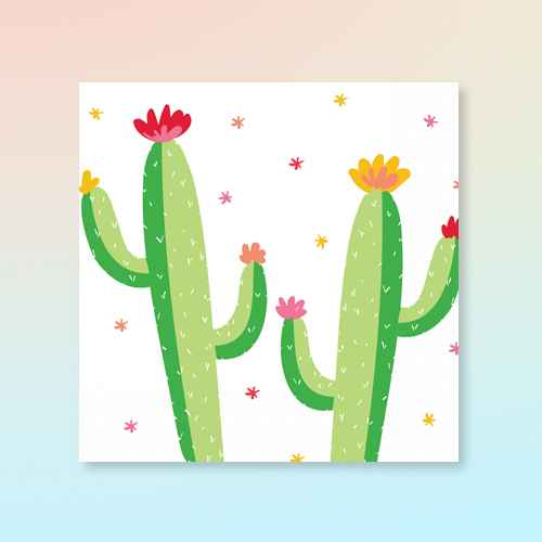 30ct Cactus Print Lunch Napkin - Spritz™