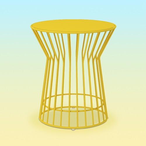 Roberta Indoor/Outdoor Side Table - Yellow - Novogratz