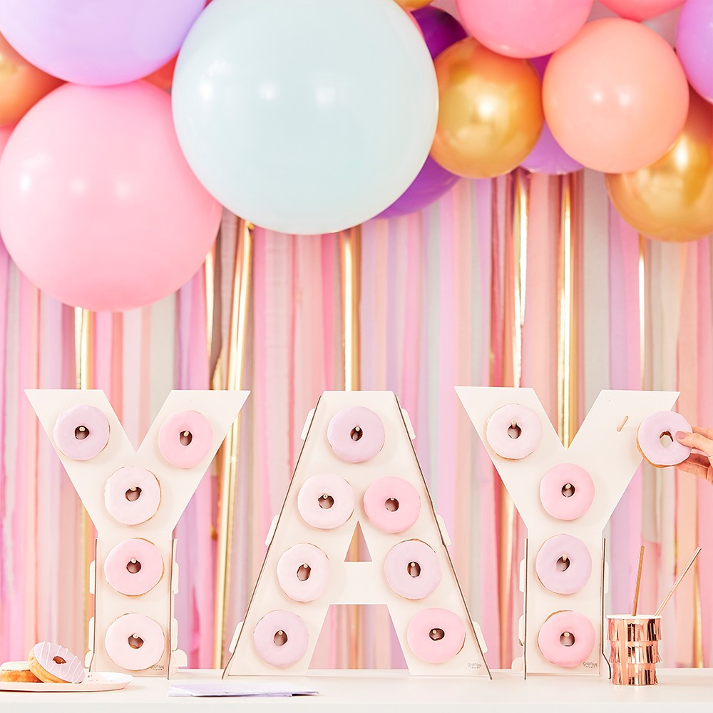 """Yay"" Donut Wall Pink"