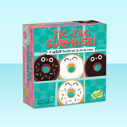 MindWare Tic Tac Surprise: Vanilla Vs. Chocolate Doughnuts - Early Learning
