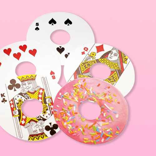 Gamago Donut-Shaped Playing Cards   52 Card Deck + 2 Jokers
