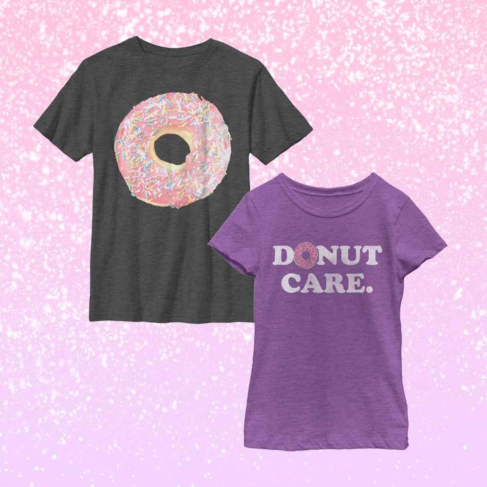 Boy's Lost Gods Sprinkle Doughnut T-Shirt, Girl's CHIN UP Donut Care T-Shirt