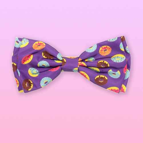 The Worthy Dog Donuts Bow Tie Adjustable Collar Attachment Accessory