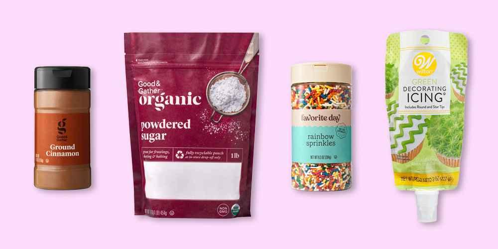 Ground Cinnamon - 4.1oz - Good & Gather™, Organic Powdered Sugar - 16oz - Good & Gather™, Rainbow Sprinkles - 9.3oz - Favorite Day™