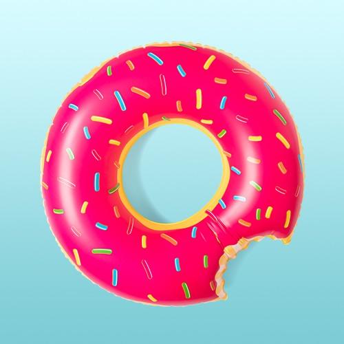Strawberry Donut Pool Float Bright Pink - Sun Squad™