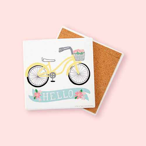 Thirstystone Hello Bike Coaster Set of 4