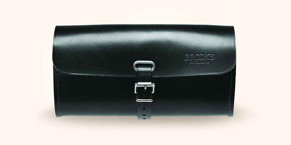 Brooks Challenge Tool Bag Large Black Leather Attaches to Brooks Saddles