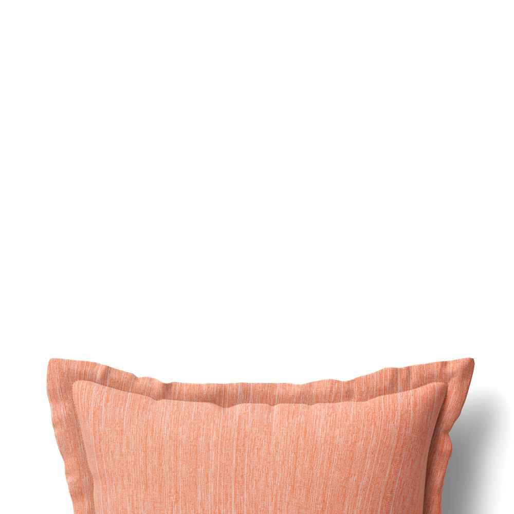 "24"" Decorative Throw Pillow DuraSeason Fabric™ Flanged Melon - Threshold™"