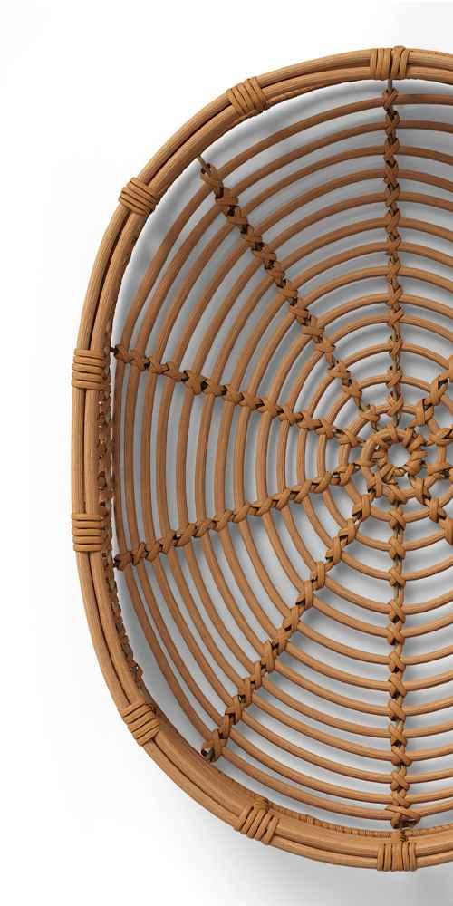 "13"" x 4.5"" Rattan Tray Basket Natural - Opalhouse™"