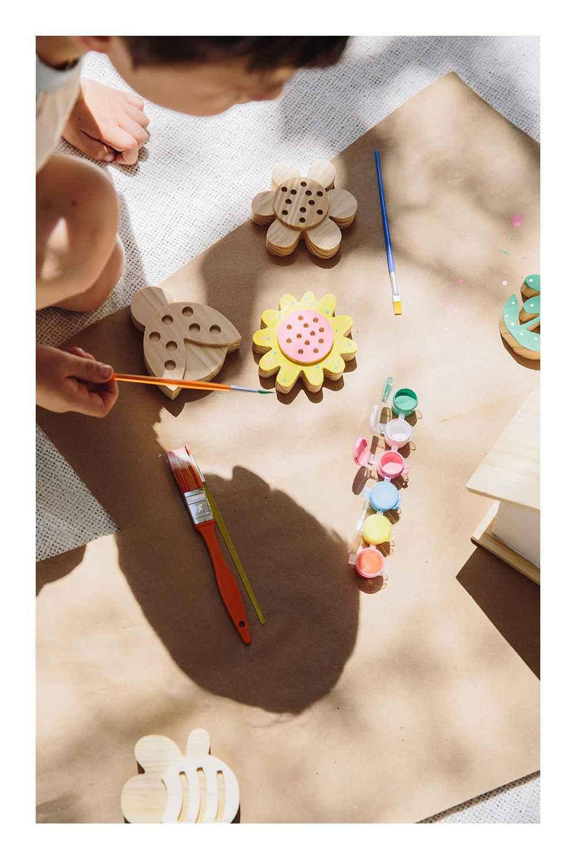 "7' x 10' Outdoor Rug Summer Wheat - Smith & Hawken™, 50""x60"" Border Striped Cotton Throw Blanket Neutral - Threshold™, Wood Birdhouse - Mondo Llama™, 4ct Paint-Your-Own Wood Flowers Kit - Mondo Llama™, 4ct Paint-Your-Own Wood Critters Set - Mondo Llama™, 9ct Watercolor Brushes - Mondo Llama™, 8ct Satin Acrylic Paints - Mondo Llama™, Girls' Tiered Woven Maxi Sleeveless Dress - Cat & Jack™ White L"