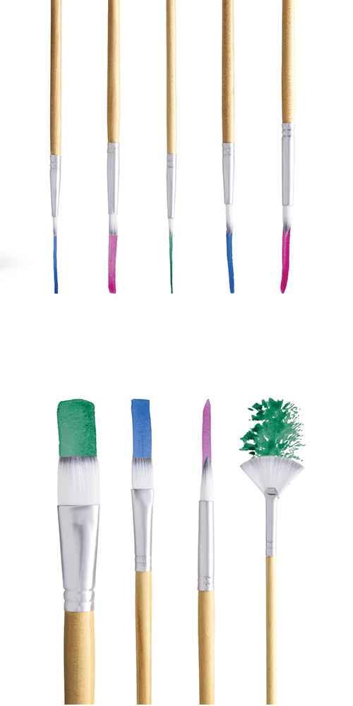 9ct Watercolor Brushes - Mondo Llama™