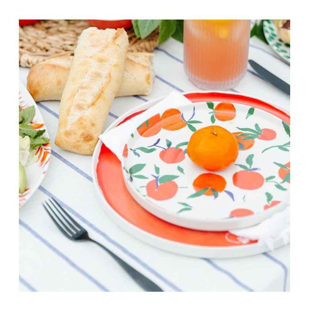 "8"" Bamboo Melamine Salad Plate - Opalhouse™, 10.5"" Bamboo Melamine Dinner Plate Orange - Opalhouse™, Demi French Bread - 8oz - Favorite Day™"