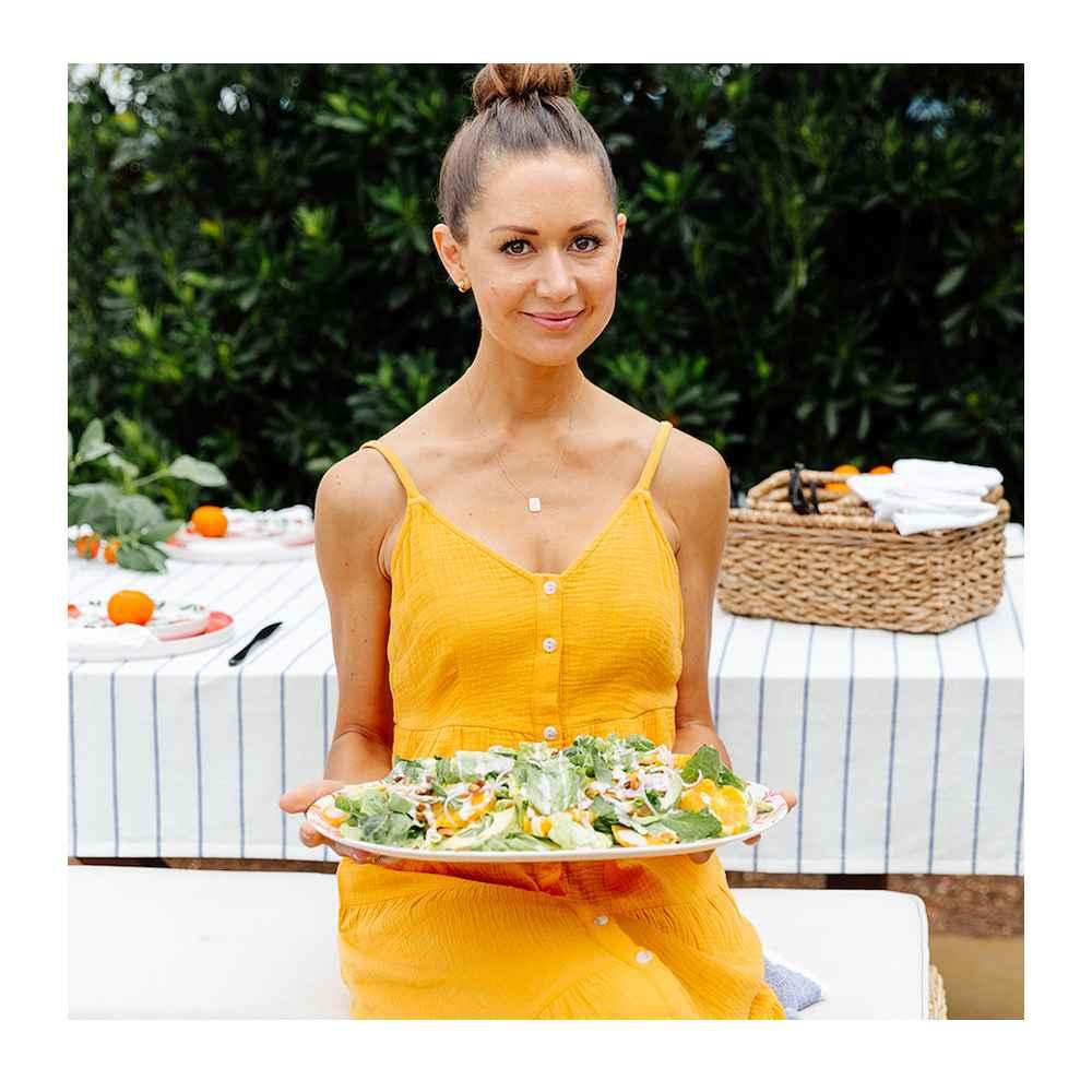 2pc Bamboo Melamine Oval Serving Platters Orange - Opalhouse™, Chunky Seagrass Woven Utensil Caddy Beige - Threshold™