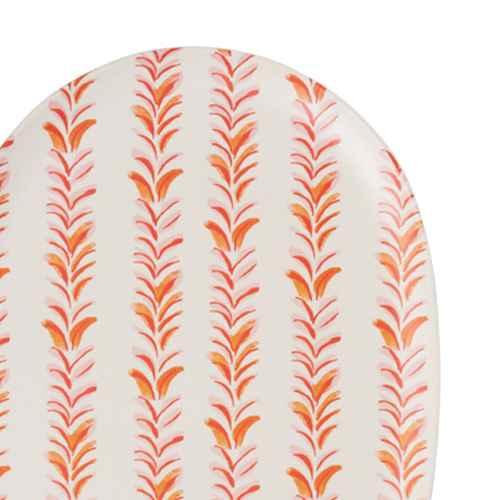 2pc Bamboo Melamine Oval Serving Platters Orange - Opalhouse™