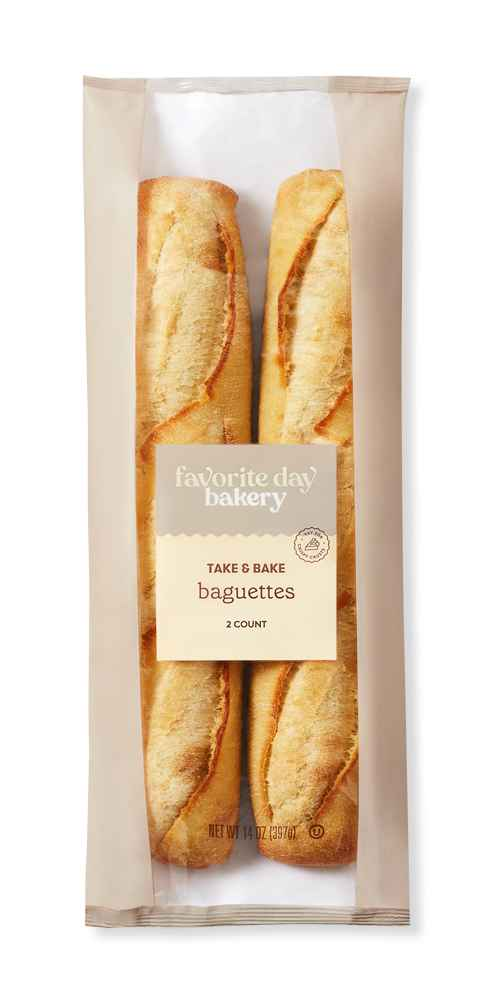 Take And Bake Baguettes - 14oz/2ct - Favorite Day™, Demi French Bread - 8oz - Favorite Day™, Soft French Bread - 16oz - Favorite Day™
