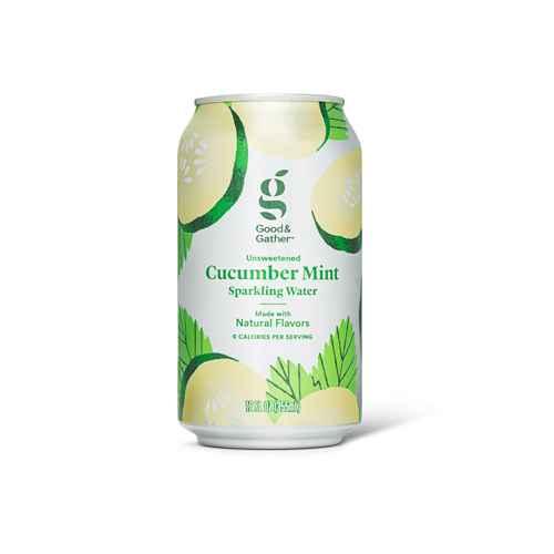Cucumber Mint Sparkling Water - 8pk/12 fl oz Cans - Good & Gather™, Ginger Peach Sparkling Water - 8pk/12 fl oz Cans - Good & Gather™, Coconut Pineapple Sparkling Water - 8pk/12 fl oz Cans - Good & Gather™