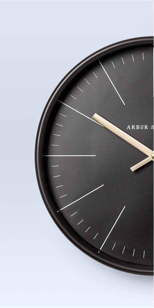 Decorative Wall Clock - Black/Brass - Project 62™