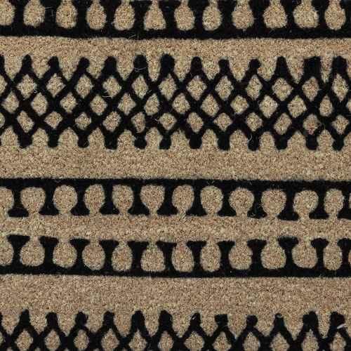 """1'6""""X2'6""""/18""""X30"""" Stripe Tufted Doormat Black - Project 62™"""