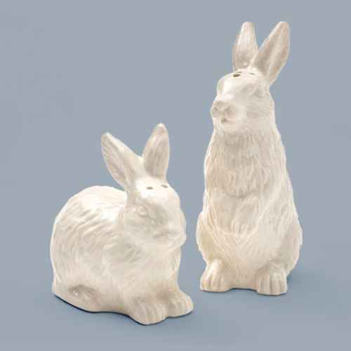 2pc Stoneware Bunny Salt and Pepper Shaker Set White - Threshold™