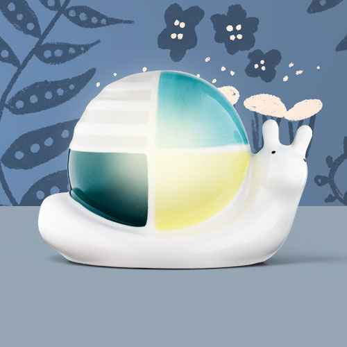 Nightlight Ceramic Snail - Cloud Island™ White