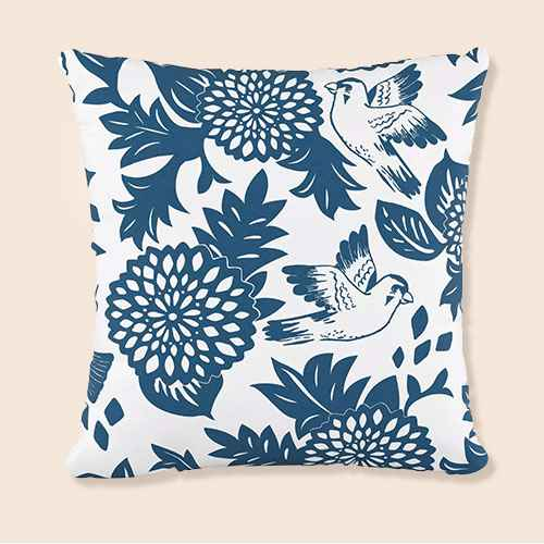 Bird Square Throw Pillow - Cloth & Company
