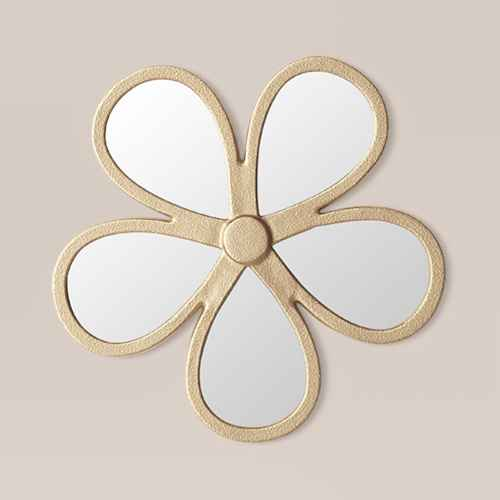 Petal Shaped Wall Mirror Light Gold - Opalhouse™