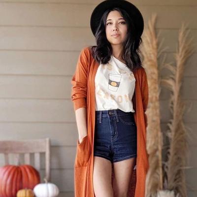 Women's Tis the Season Pumpkin Spice Short Sleeve T-Shirt - Fifth Sun (Juniors') - Off White