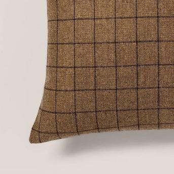 Woven Wool Blend Windowpane Square Throw Pillow - Threshold™