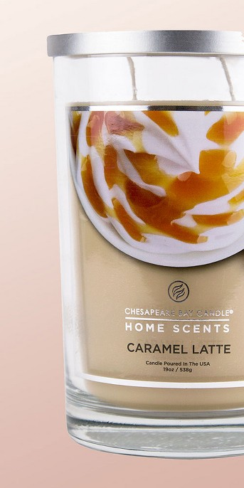 Jar Candle Caramel Latte - Home Scents by Chesapeake Bay Candles
