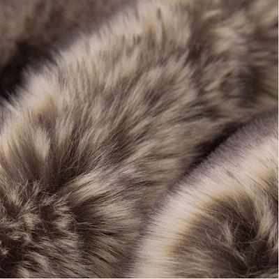 50 inch x 60 inch Faux Fur Throw Ombre Gray - Glitzhome