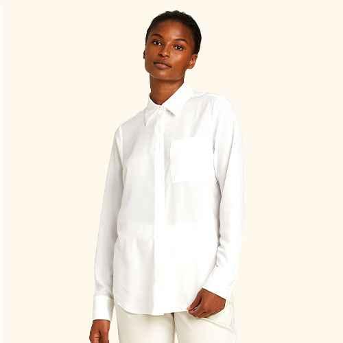 Women's Long Sleeve Open-Front Button-Down Shirt - Prologue™