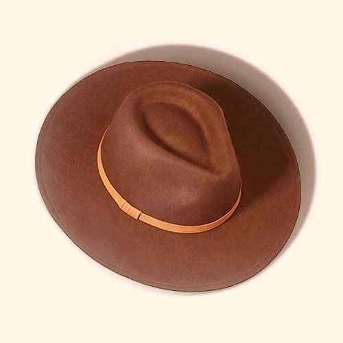 Women's Felt Wide Brim Fedora Hat - Universal Thread™ Brown