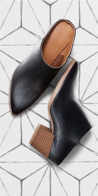 Women's Makana Faux Leather Heeled Mule - Universal Thread™