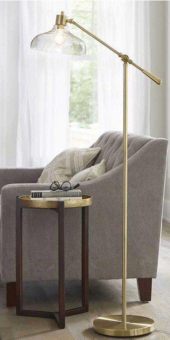 Crosby Glass Shade Floor Lamp Brass - Threshold™