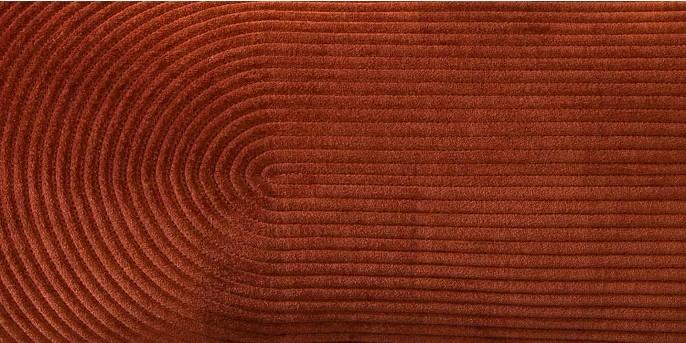 Oversize Lumbar Quilted Horseshoe Velvet Pillow Brown - Project 62™
