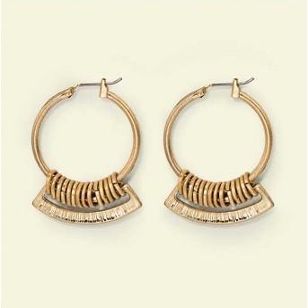 Hardware Hoop earrings - Universal Thread™ Gold