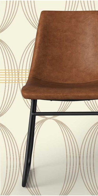 Bowden Faux Leather and Metal Dining Chair - Project 62™