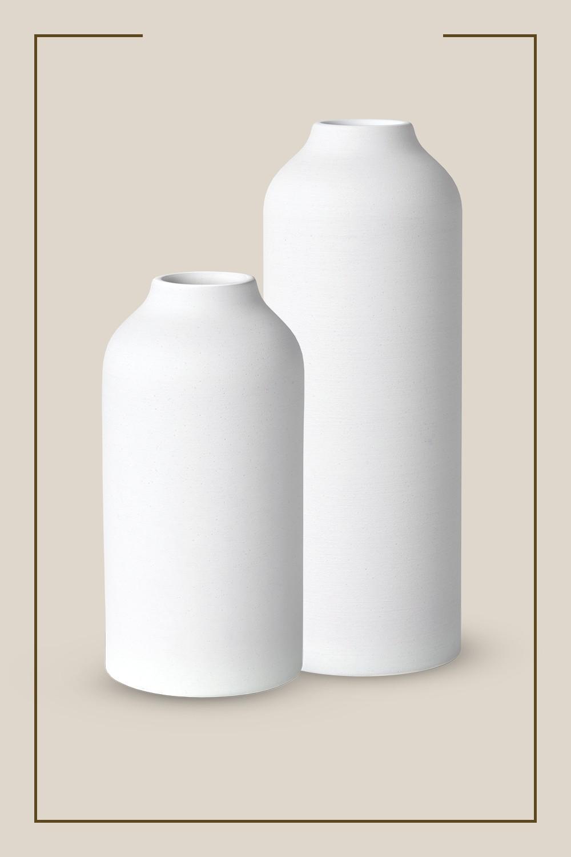 "10"" x 5"" Texture Ceramic Vase White - Project 62™, 14"" x 5"" Textured Ceramic Vase White - Project 62™"