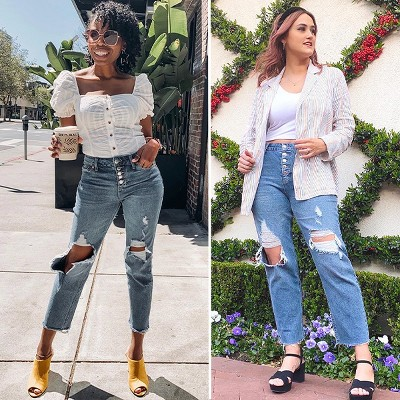 These straight-leg jeans are having a moment. And everyone is here for it.