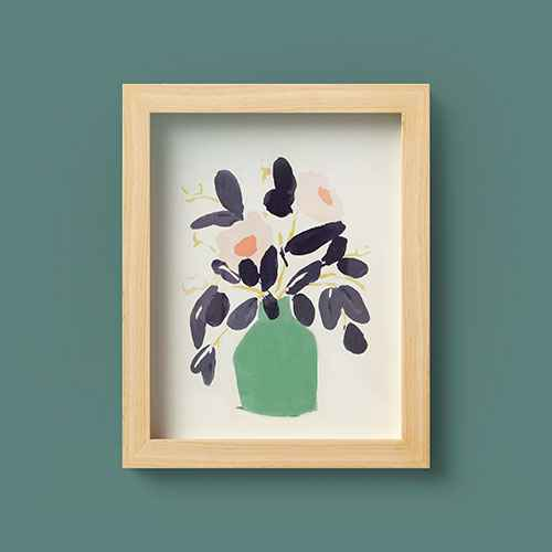 Flowers in Vase Wall Canvas - Opalhouse™