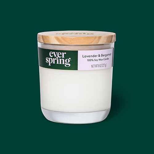 Lavender & Bergamot 100% Soy Wax Candle - Everspring™