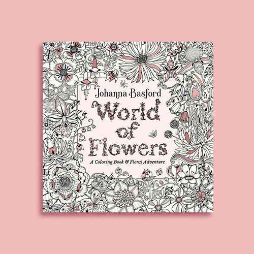 World of Flowers : A Coloring Book & Floral Adventure -  by Johanna Basford (Paperback)