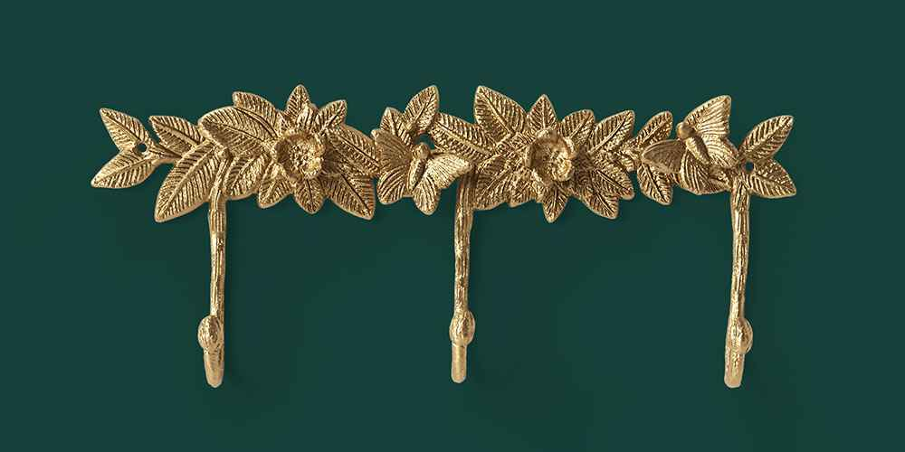 Floral Wall Hook Light Gold - Opalhouse™